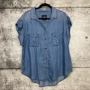 American Eagle // Short Sleeve Chambray Shirt